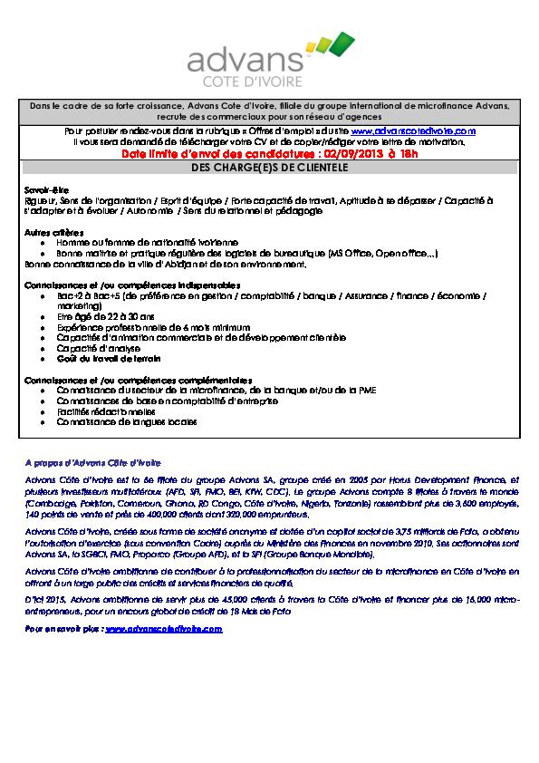 Pdf 6 Doc Offre Emploi Promo5bis V0 2 Adama Diawara