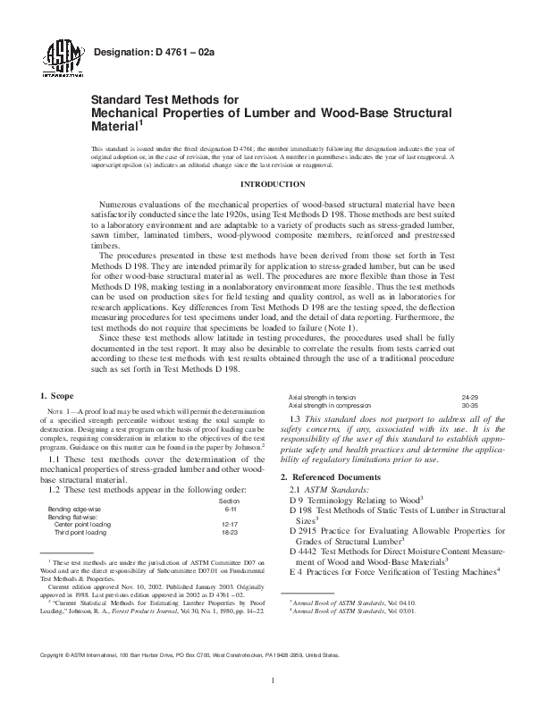 PDF) Designation: D 4761 – 02a Standard Test Methods for Mechanical