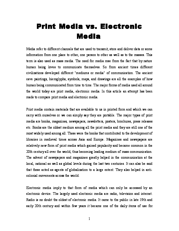 types of print media