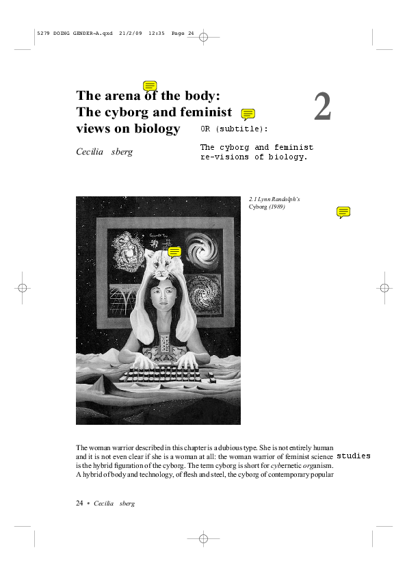 PDF) The arena of the body: The cyborg and feminist views on biology