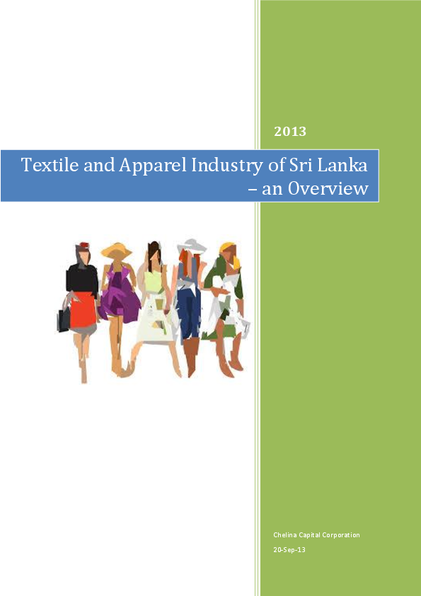 PDF) Textile and Apparel Industry of Sri Lanka – an Overview