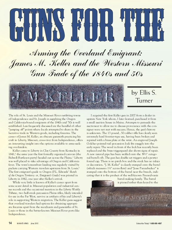 PDF) Arming the Overland Emigrant: J  M  Keller and the Western