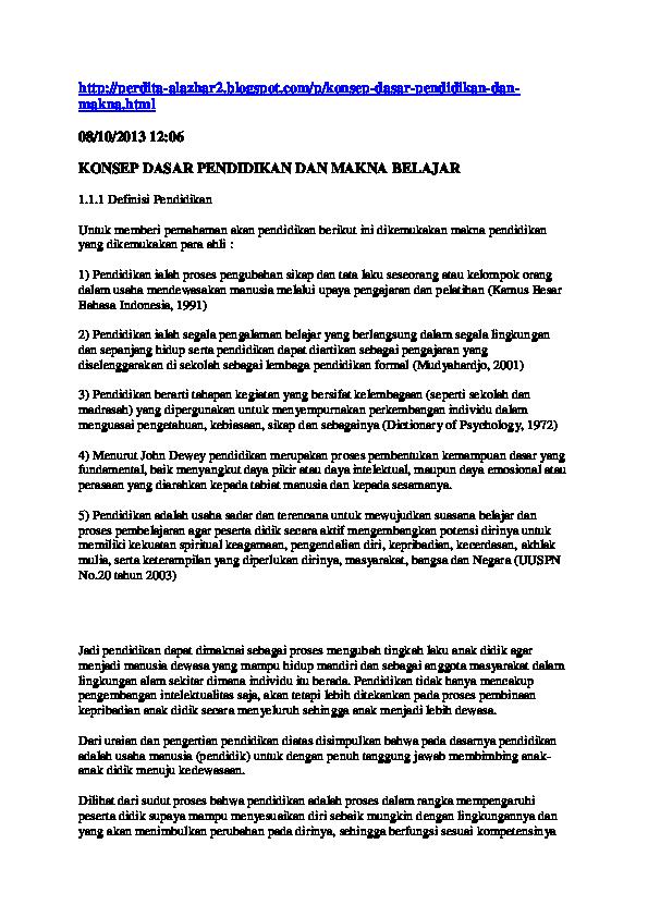 Doc Konsep Dasar Pendidikan Farkhanudin Aan Academia Edu