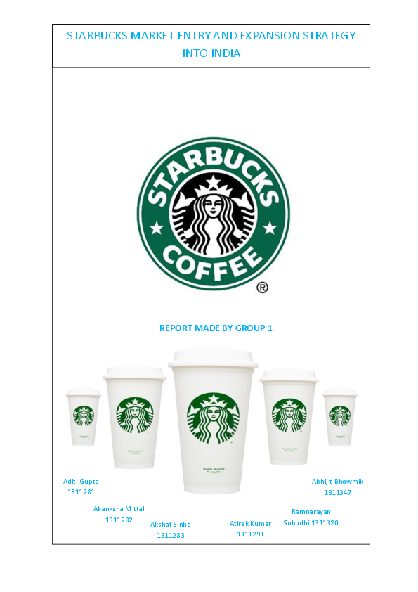 starbucks strategy in india