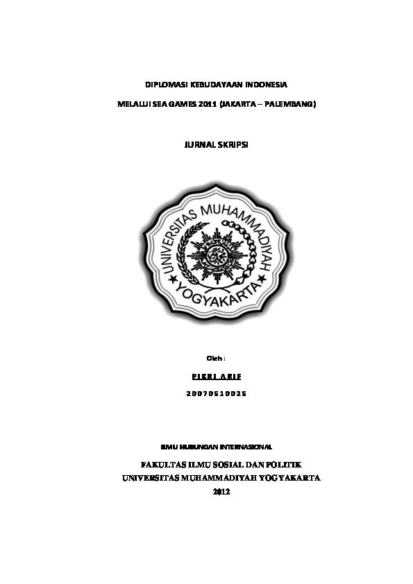 Skripsi Hubungan Internasional Tentang Kebudayaan Ide Judul Skripsi Universitas
