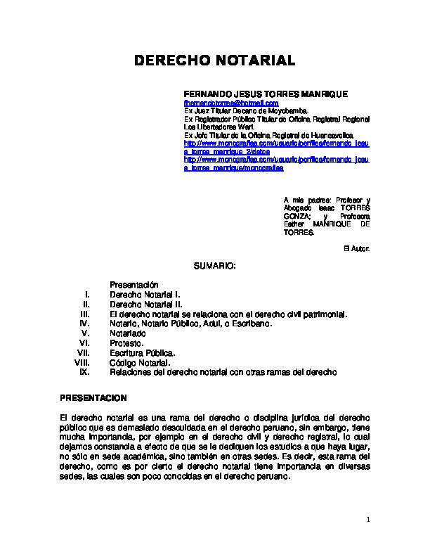 Pdf Derecho Notarial Hovita Cutipa Quispe Academia Edu