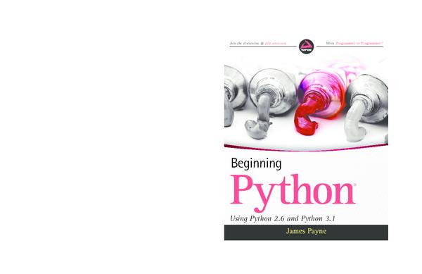PDF) Beginning Python Using Python 2 6 and Python 3 1 | Isromi