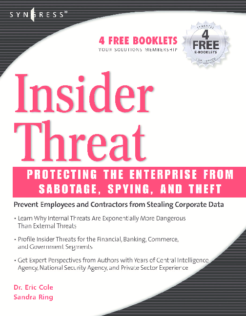 PDF) Insider Threat - Protecting The Enterprise From