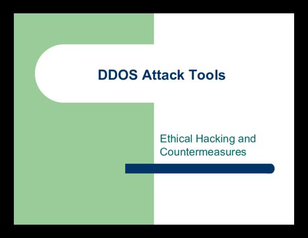 PDF) DDOS Attack Tools | Isromi Janwar - Academia edu