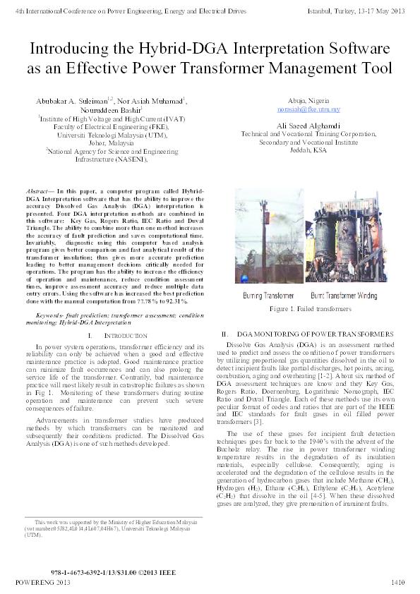 PDF) Introducing the Hybrid DGA Interpretation Software as