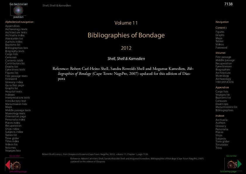 Bibliographies Of Bondage Robert Shell Academia