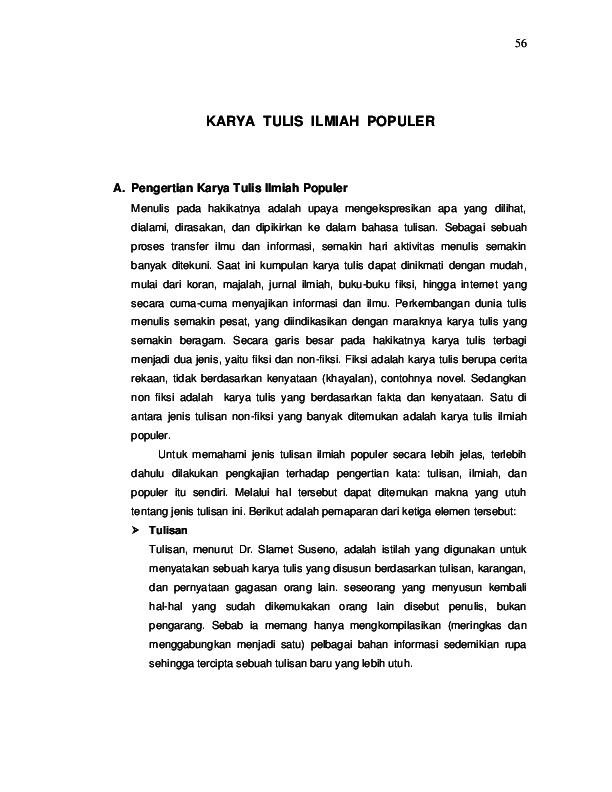 Pdf Karya Tulis Ilmiah Populer Yonathan Samudro Academia Edu