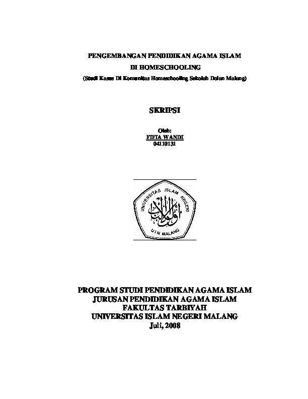 Contoh Judul Proposal Penelitian Kualitatif Pendidikan Agama Islam