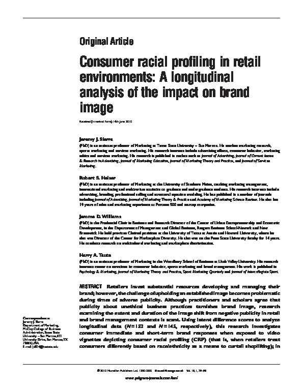 racial profiling research paper