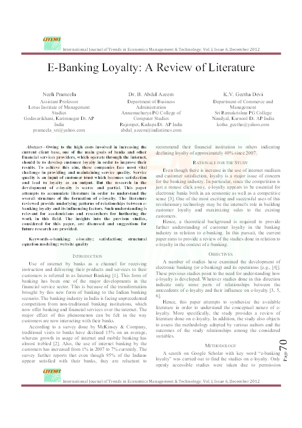 literature review on banking industry in india