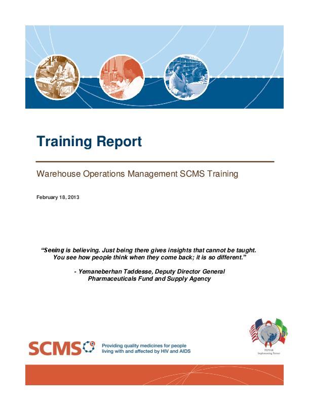 PDF) Training Report - Warehouse Operations Management SCMS