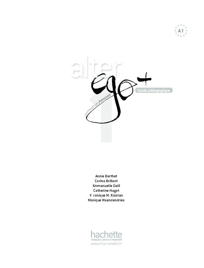 PDF) Alter Ego + 1 Guide Pédagogique PDF | Lilian Pérez - Academia edu