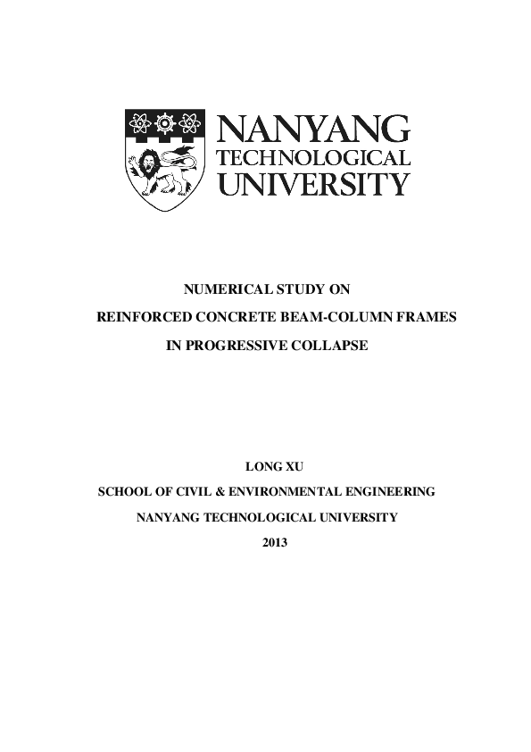 PDF) Ph D  Thesis: Numerical study on reinforced concrete beam
