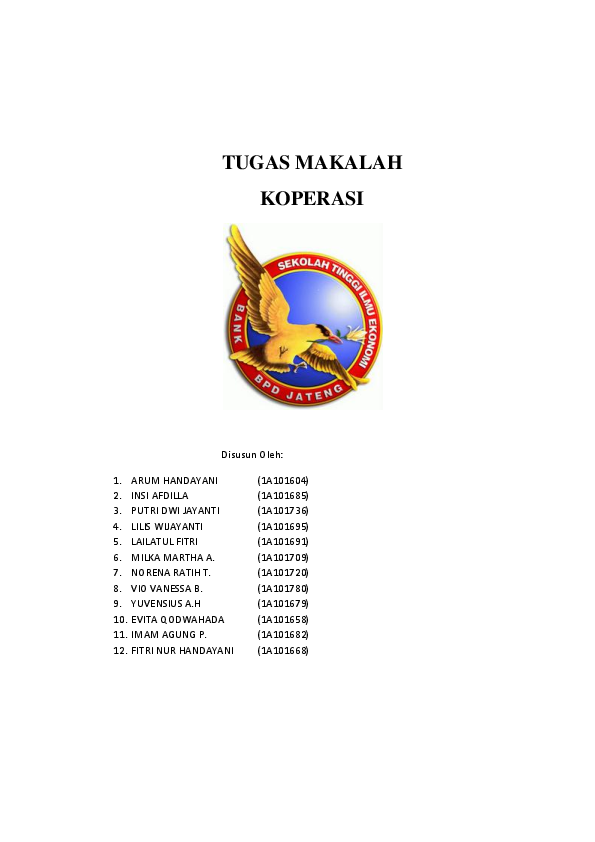 Doc Makalah Koperasi Arum Handayani Academia Edu