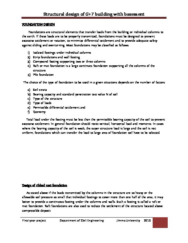 Bearing Capacity Of Mat Foundation