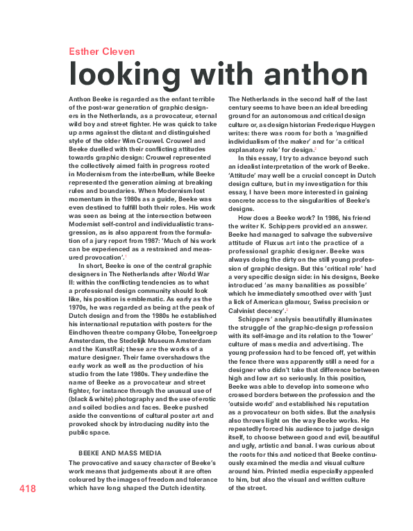 Pdf Looking With Anthon In Anthon Beeke Its A Miracle