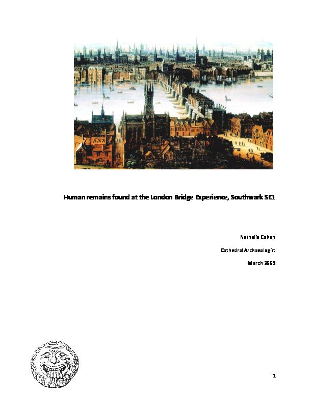 PDF) Human Remains found at the London Bridge Experience, Southwark