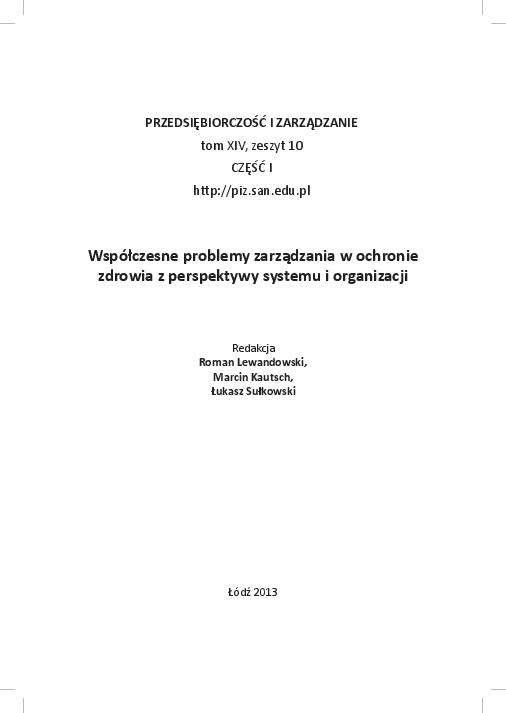 d43eac880 PDF) Współczesne problemy zarządzania w ochronie zdrowia z ...