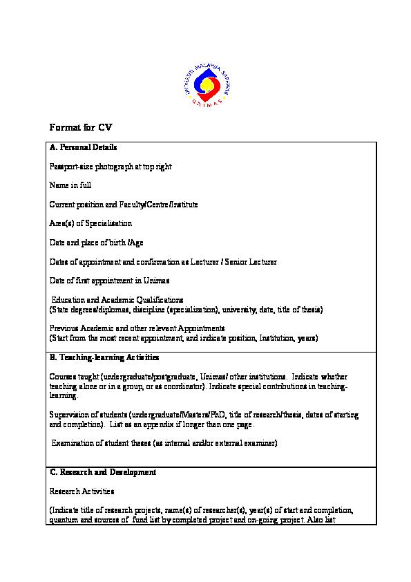 unimas postgraduate thesis format