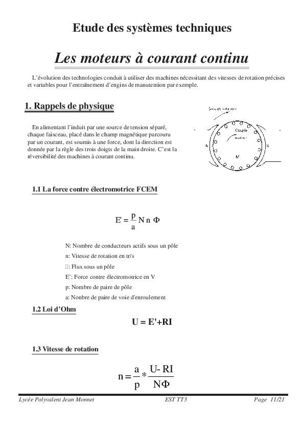 date de sortie acheter populaire énorme réduction PDF) moteur a courant continu | Mohamed Dieng - Academia.edu