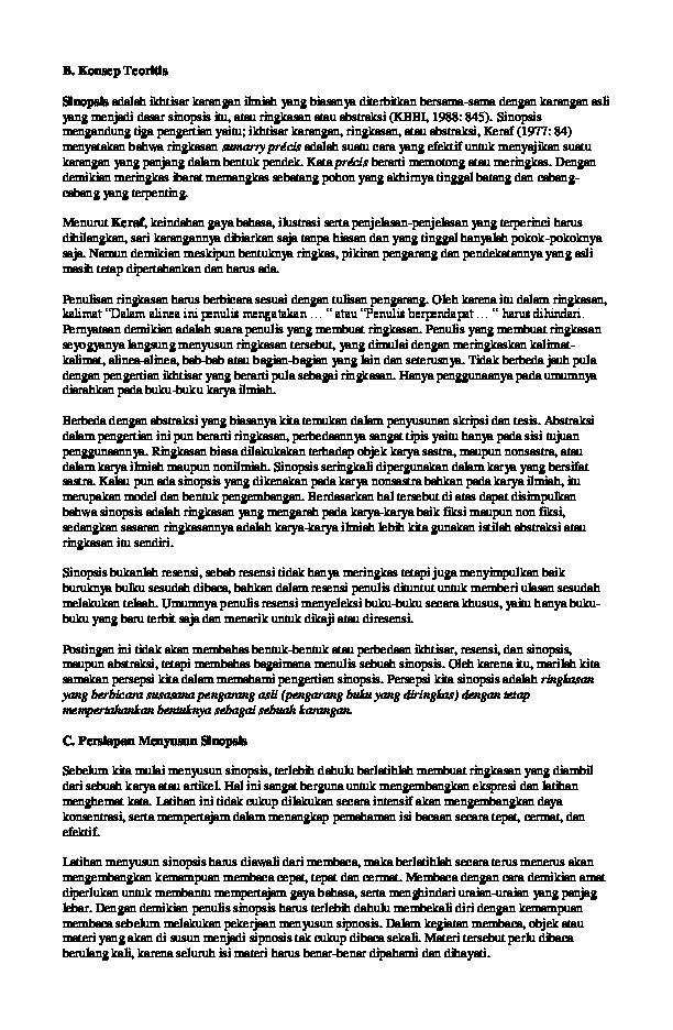 Gambar Ilustrasi Suatu Buku Ilmiah Atau Buku Cerita Doc Menyusun Sinopsis Sheva Nurmansyah Academia Edu