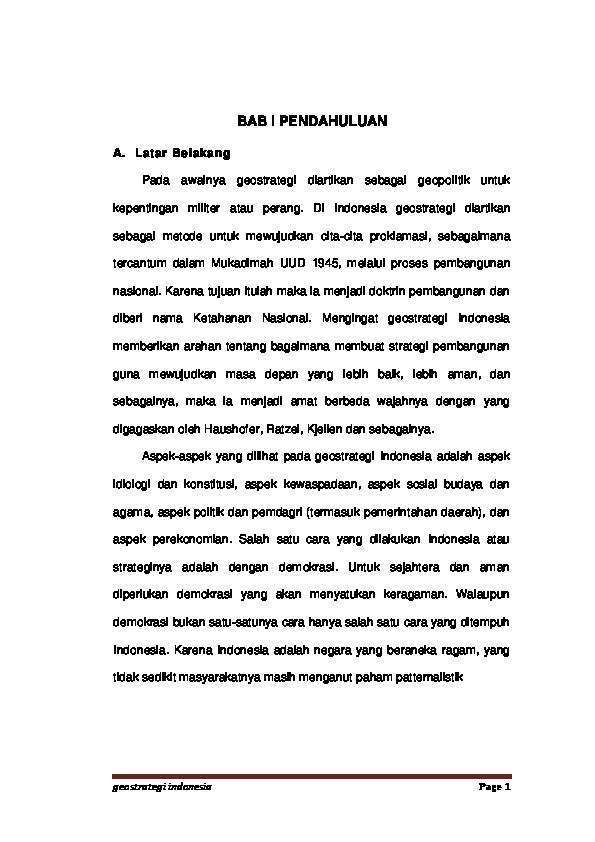 DOC) geostrategi indonesia | Rusni Haris - Academia edu