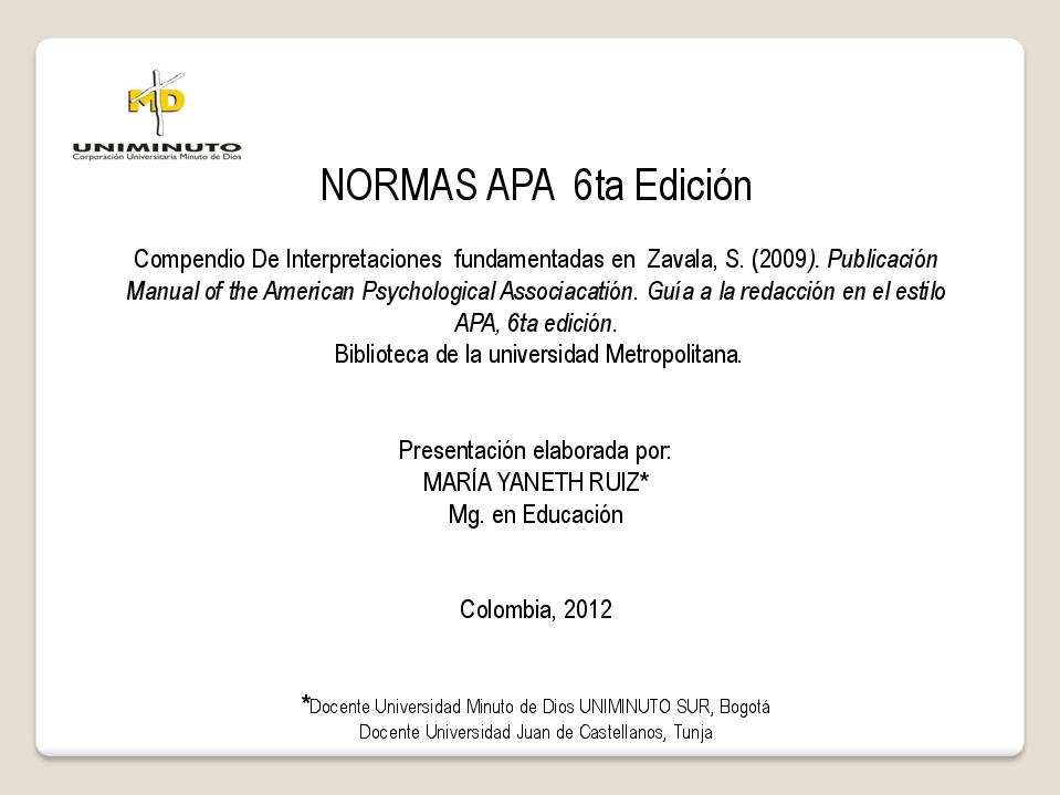 Pdf Normas Apa 6ta Edición Greg Puello Academia Edu