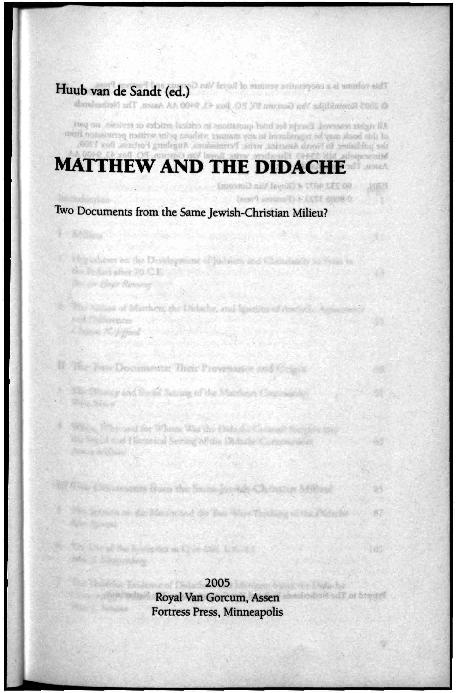 Matthew s gospel intra jewish conflict and plight
