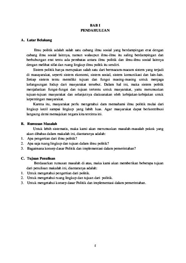 Doc Makalah Ilmu Politik Septian Raha Academia Edu
