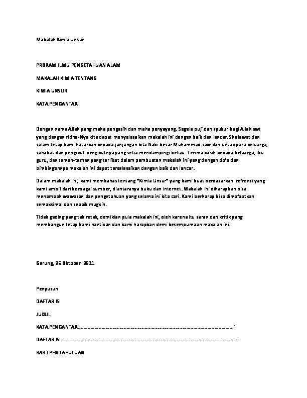 Makalah Kimia Unsur Septian Raha Academia Edu