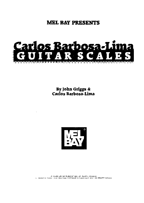 PDF) Carlos Barbosa Lima - Guitar Scales | Lis Lee
