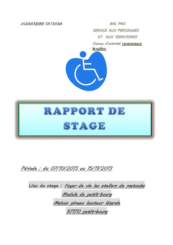 Doc Rapport De Stage Tyana Kafrine Academia Edu