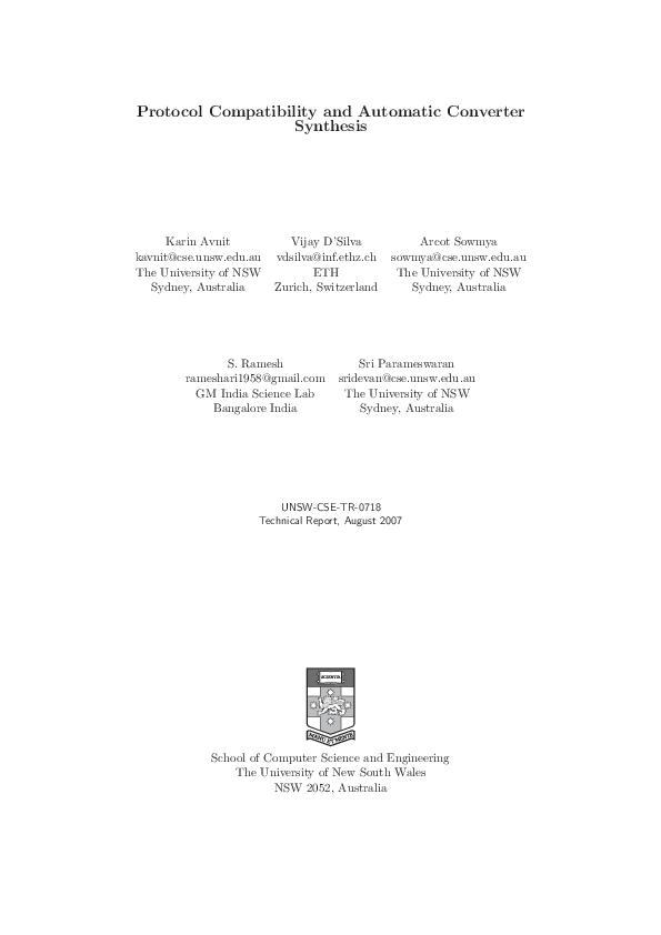 PDF) Protocol Compatibility and Automatic Converter