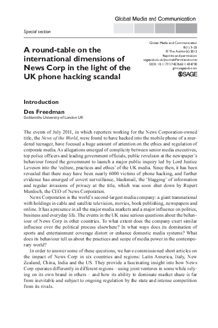 PDF) Murdoch in the United States: Kingmaker or Ringmaster
