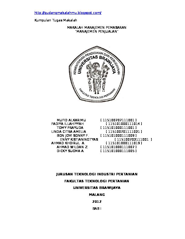 Contoh Makalah Administrasi Bisnis Nofiyanti Anisa Putri
