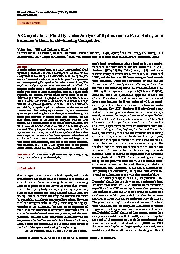 PDF) A computational fluid dynamics analysis of hydrodynamic