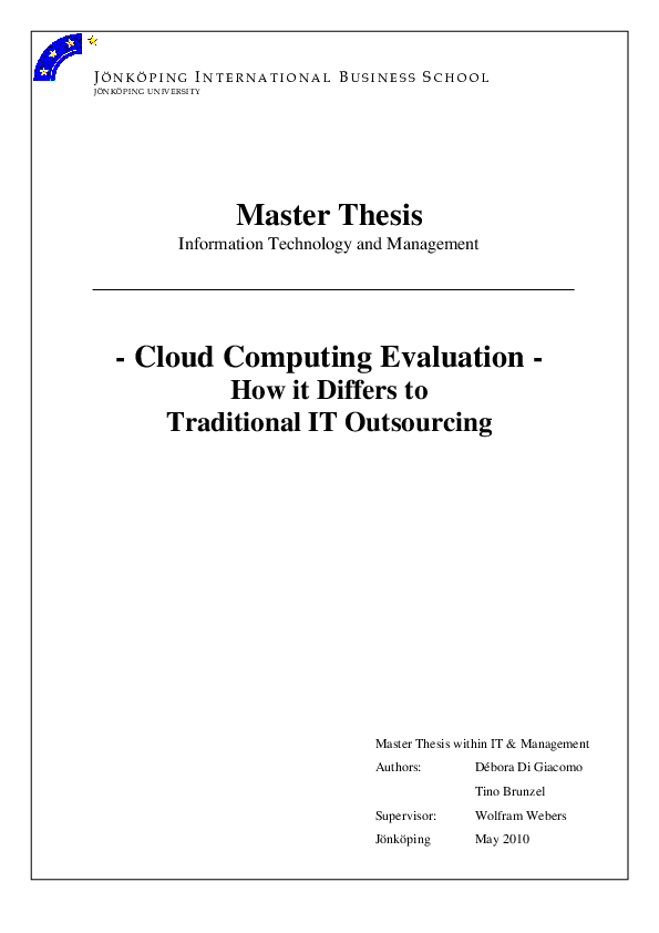 Master thesis cloud computing pdf sixties thesis statement