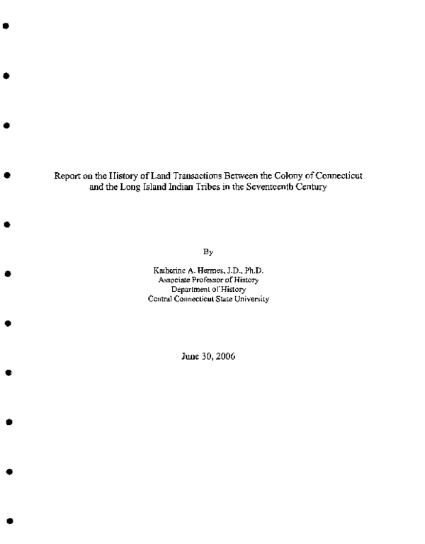PDF) Report on the History of Land Transactions | Katherine Hermes