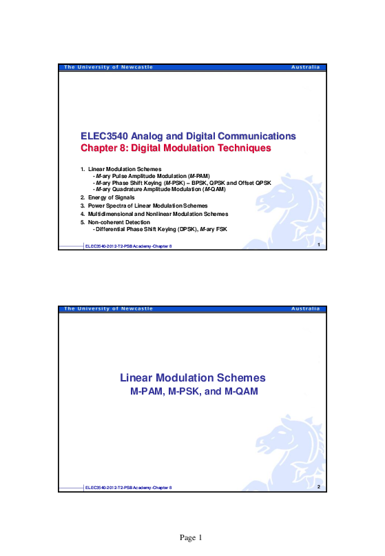 PDF) ELEC3540 Lecture 8 Digital Modulation | Kar Heng Lee