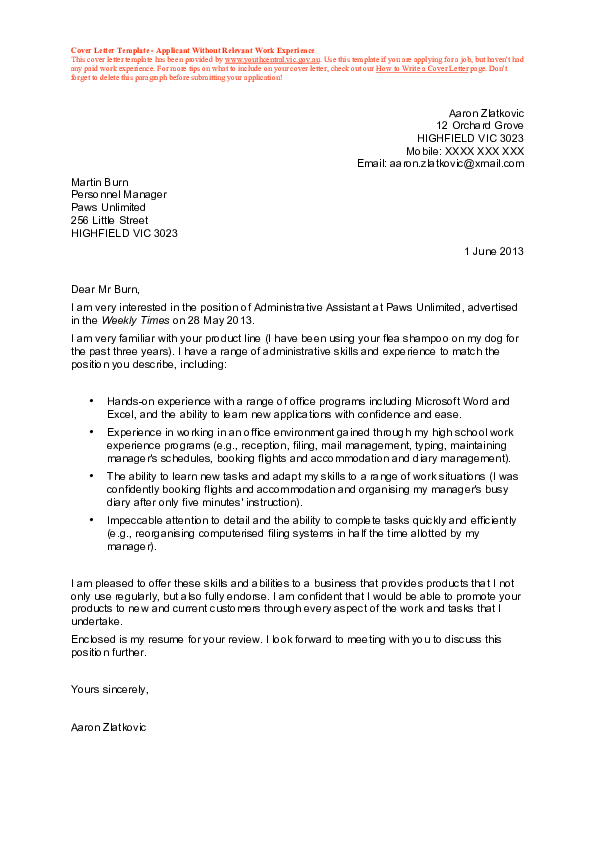 Cover Letter Without Hiring Manager Name from 0.academia-photos.com
