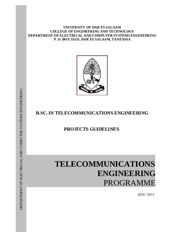 PDF) Final year project instructions UDSM | Emmanuel Jonas