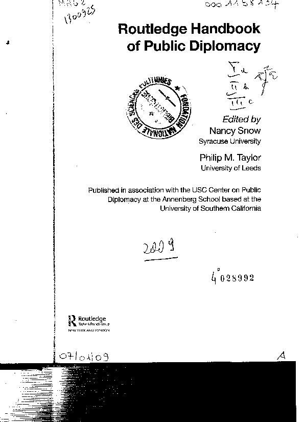 eea186ab7 PDF) Routledge Handbook of Public Diplomacy