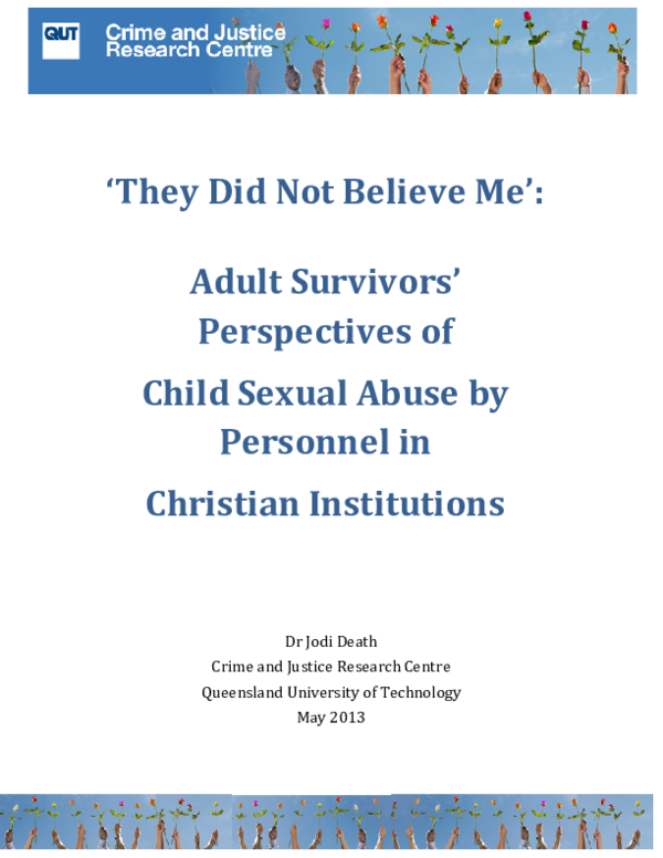 PDF) 'They Did Not Believe Me': Adult Survivors