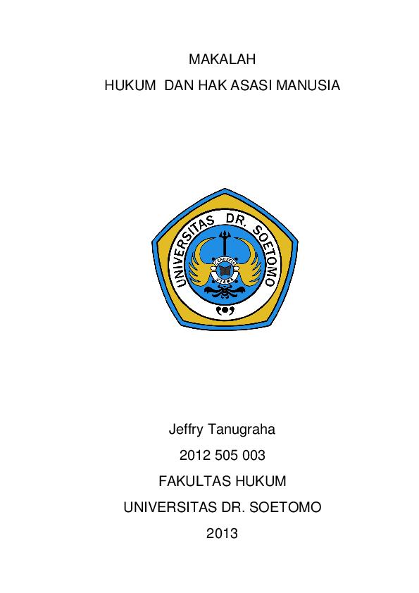 Doc Makalah Hukum Dan Hak Asasi Manusia Jeffry Tanugraha Academia Edu