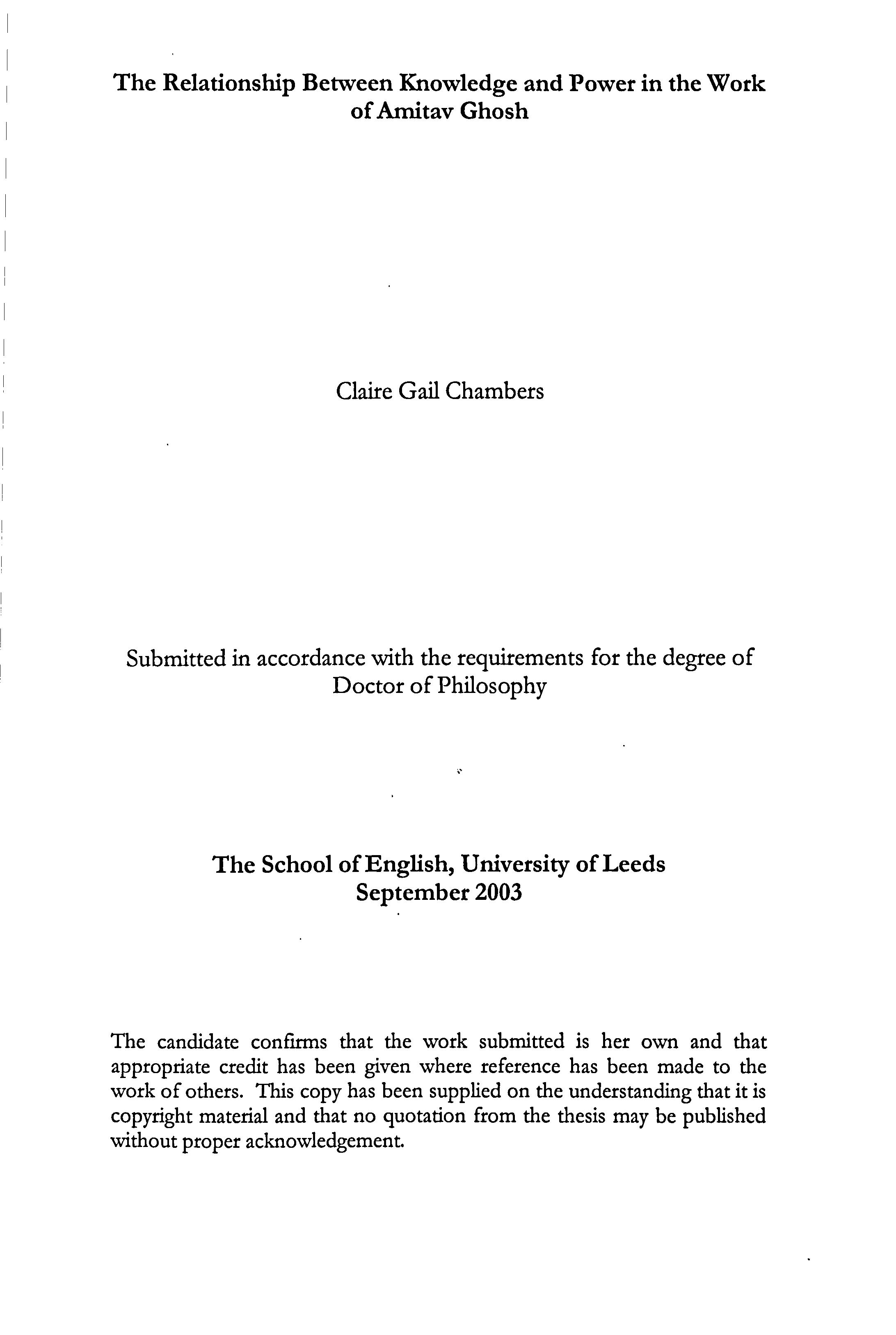 thesis on amitav ghosh
